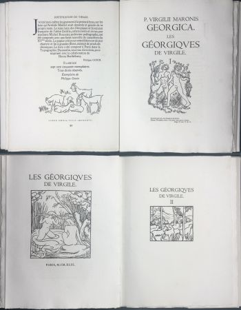 Illustrated Book Maillol - VIRGILE : LES GEORGIQUES. Bois originaux de Maillol (Gonin, 1950)