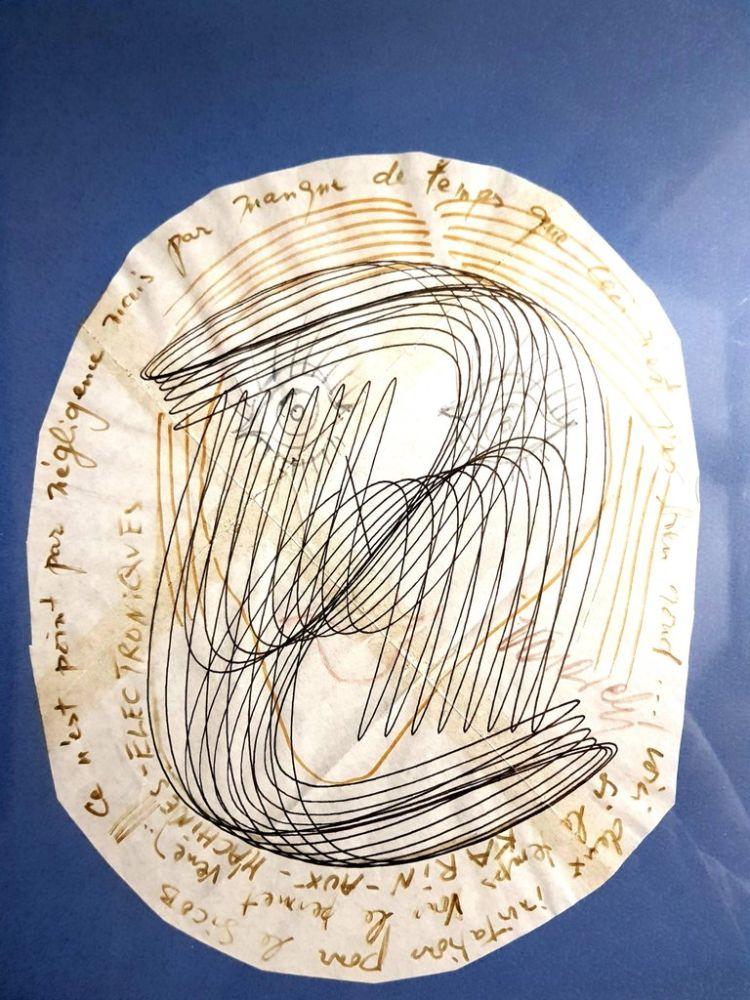 Lithograph Vasarely - Visage