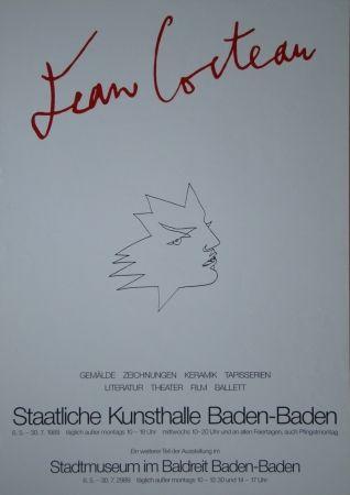 Poster Cocteau - Visage
