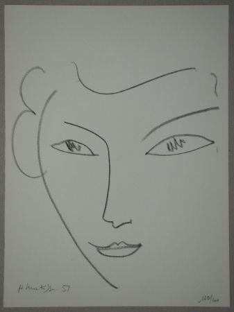 Lithograph Matisse - Visage