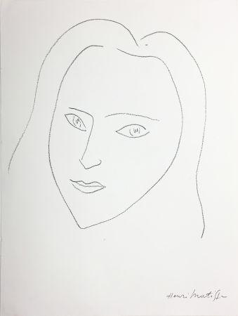 Lithograph Matisse - VISAGE (1943)