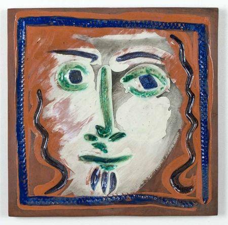 Ceramic Picasso - Visage aux cheveux bouclés (Curly Haired Face), 1968-1969