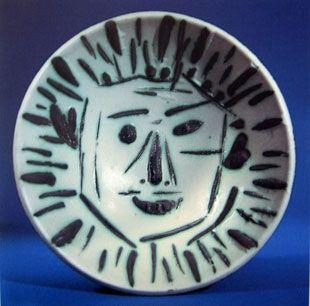 Ceramic Picasso - Visage de face