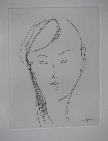 Etching Modigliani - Visage de femme (1920)