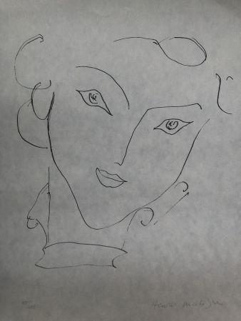 Lithograph Matisse - Visage de femme 45X60 CM EDITION CAHIERS D'ART
