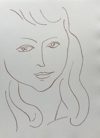 Lithograph Matisse - Visages II