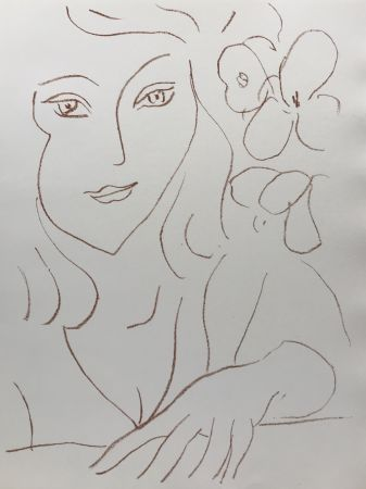Lithograph Matisse - Visages III
