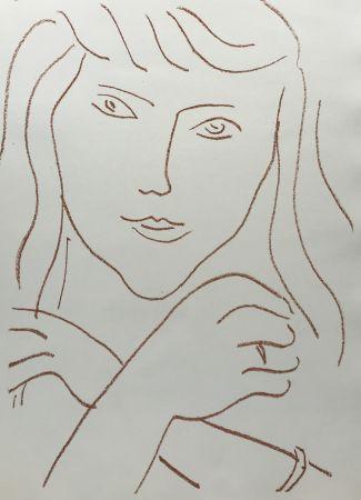 Lithograph Matisse - Visages IV