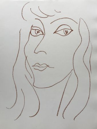 Lithograph Matisse - Visages V
