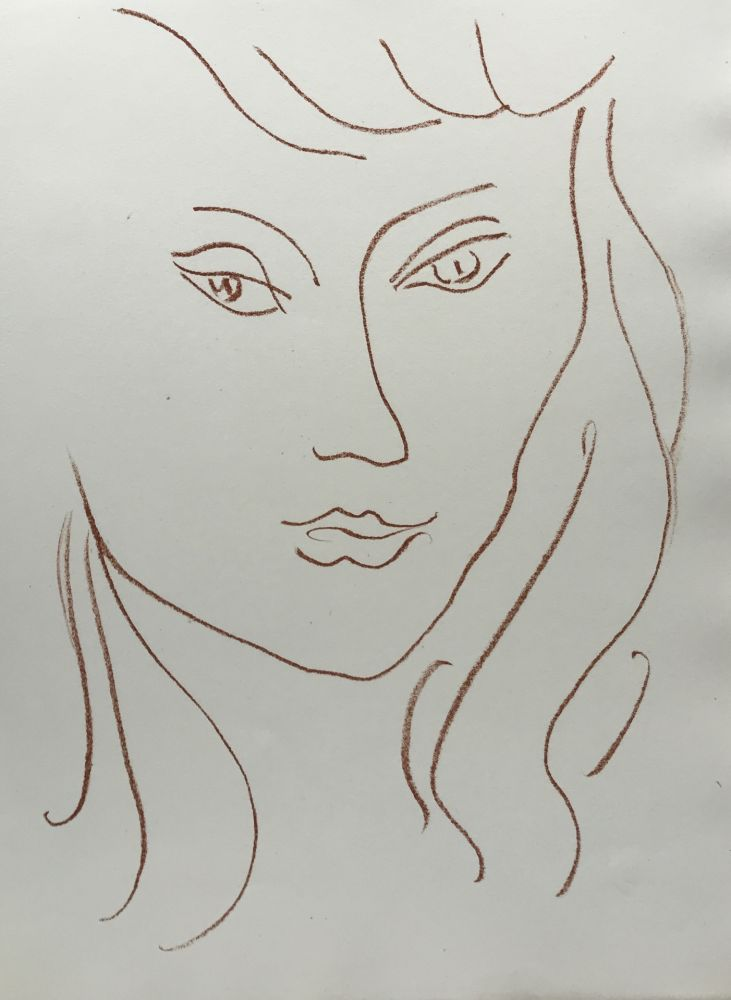 Lithograph Matisse - Visages VI