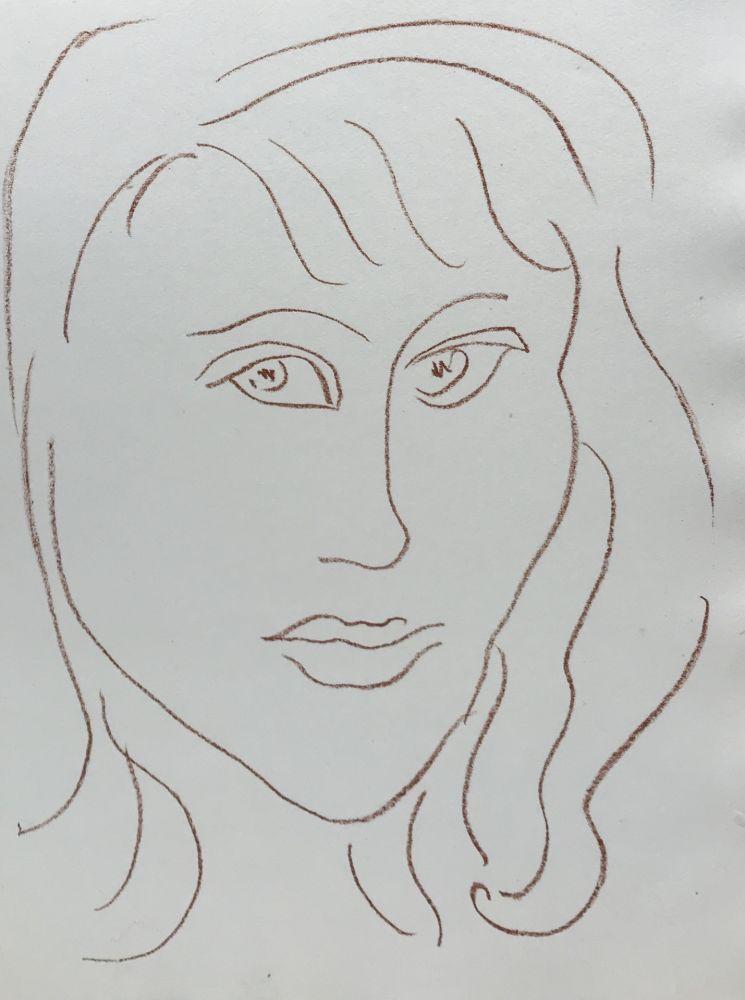 Lithograph Matisse - Visages VII