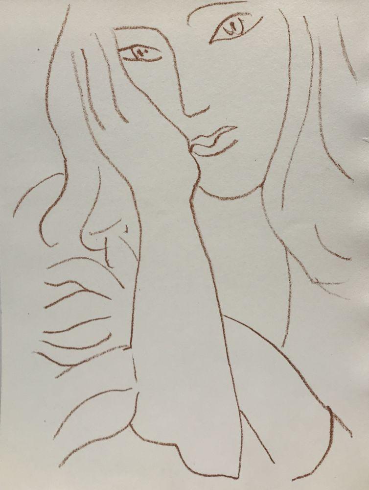 Lithograph Matisse - Visages VIII