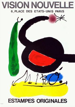 Poster Miró - VISION NOUVELLE. Estampes originales. Exposition de 1967.