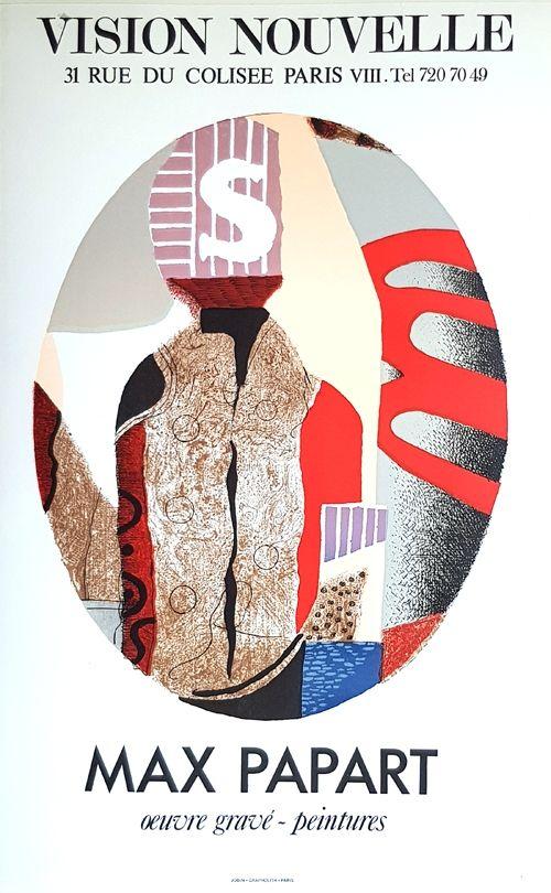 Lithograph Papart - Vision Nouvelle Oeuvre Gravé  Peintures