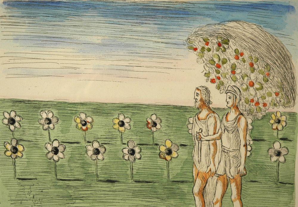 Engraving De Chirico - Visione misteriosa
