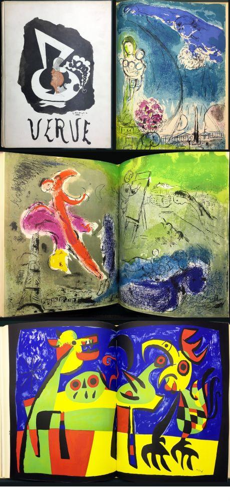 Illustrated Book Chagall - VISIONS DE PARIS. VERVE Vol. VII. N° 27-28 (1953)