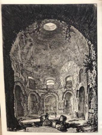 Engraving Piranesi - Vista interior del templo della Tose