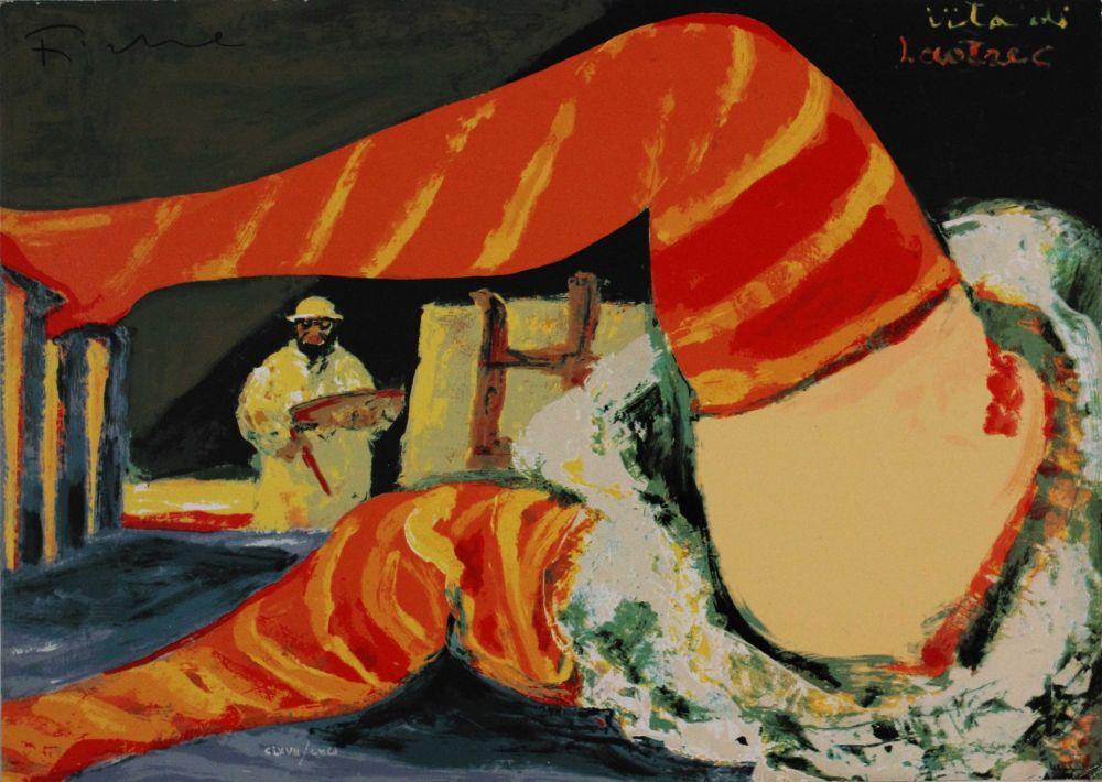 Screenprint Fiume - Vita di Lautrec