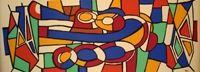 Lithograph Leger - Vitraux