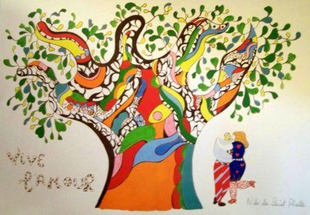 Offset De Saint Phalle - Vive l'amour 30 x 24 cm