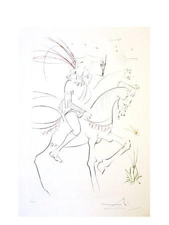Lithograph Dali - Viviane et Lancelot