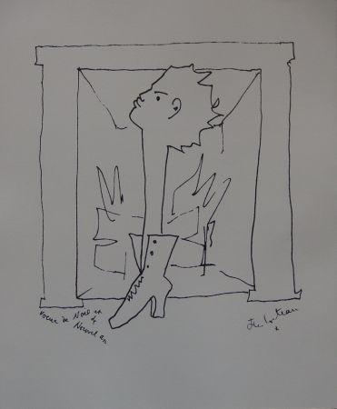 Lithograph Cocteau - Voeux