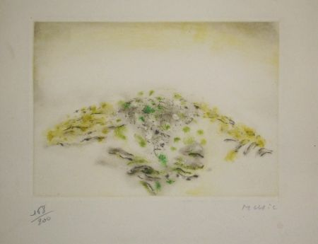 Etching And Aquatint Music - Voeux Lacourière 1966
