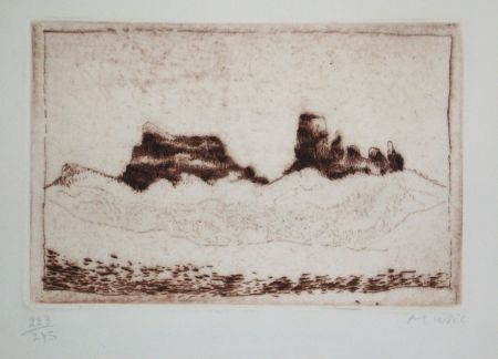 Etching And Aquatint Music - Voeux Lacourière 1978