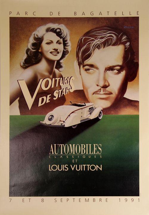 Poster Razzia - Voitures de Stars Automobile et Louis Vuiton