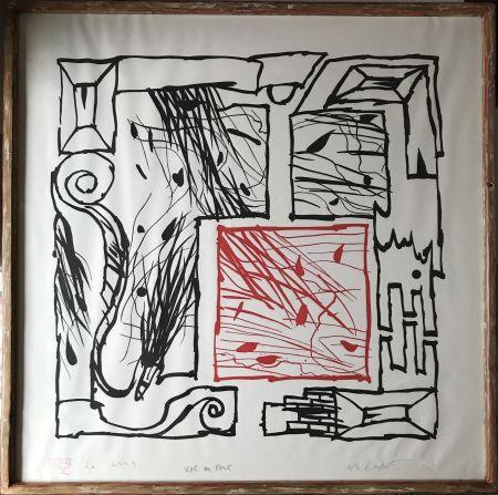 Etching And Aquatint Alechinsky - Vol au vent