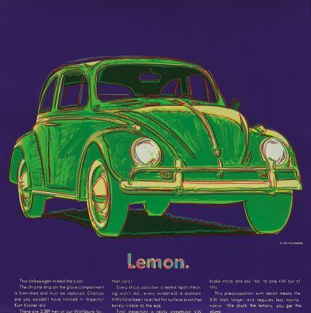 Screenprint Warhol - Volkswagen