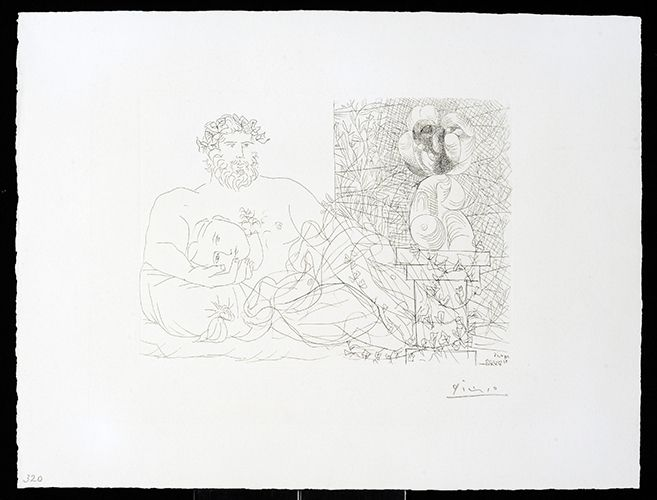 Etching Picasso - Vollard Suite – Sculptor and Model