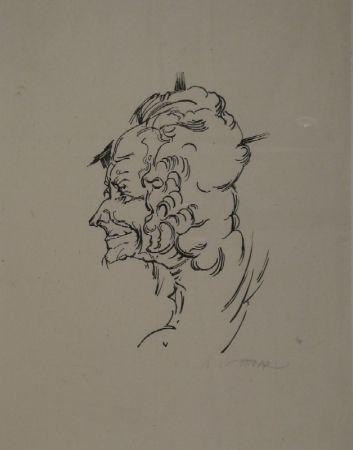 Woodcut Oppenheimer - Voltaire