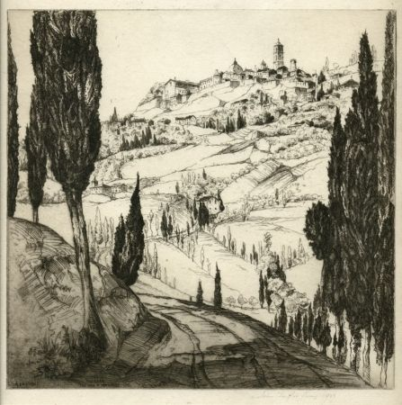 Engraving Arms - Volterra, the Town in the Clouds
