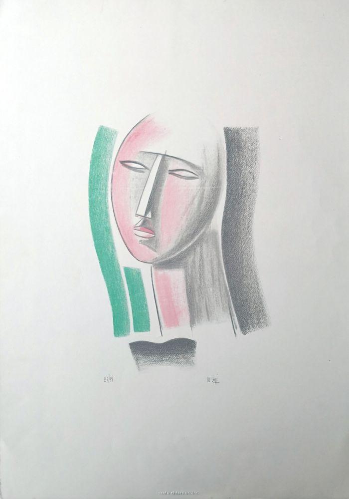 Lithograph Tozzi - Volto