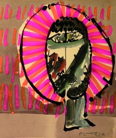 Lithograph Ortega - Volto