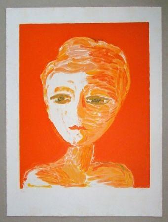 Lithograph Guidi - Volto Rosso