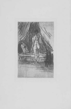 Etching Redon - Volupté, fantome elastique