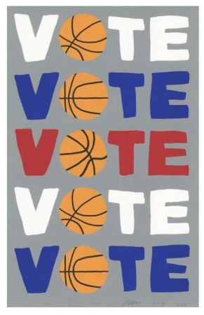 Screenprint Wood - Vote