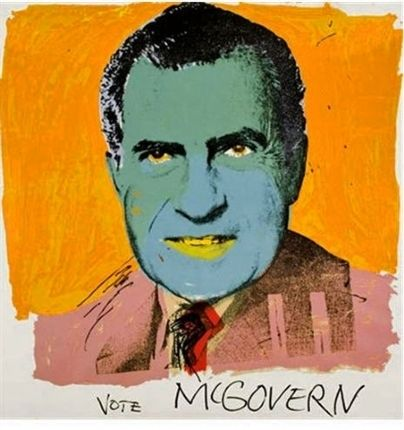 Screenprint Warhol - Vote McGovern
