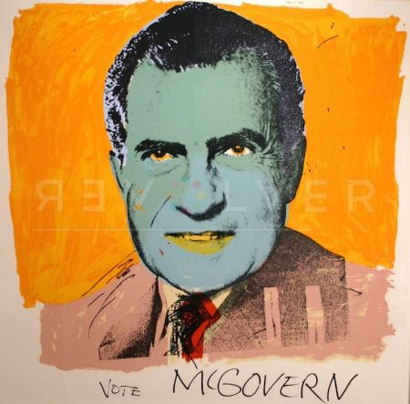 Screenprint Warhol - Vote McGovern 84