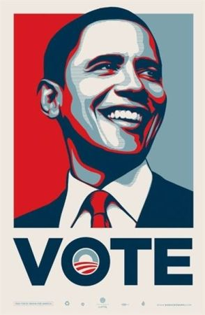 Offset Fairey - Vote Obama