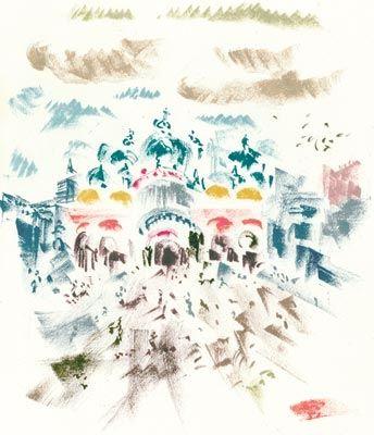 Lithograph Masson - Voyage À Venise