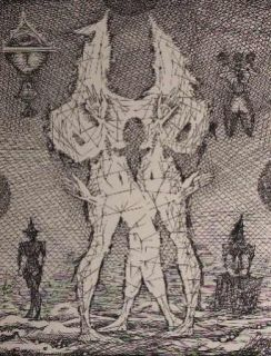 Engraving Coutaud - Voyage dans la lune 1