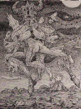 Engraving Coutaud - Voyage dans la lune 2