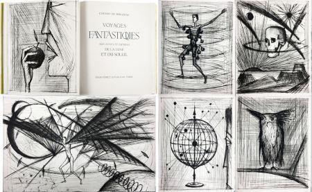 Illustrated Book Buffet - VOYAGES FANTASTIQUES AUX ÉTATS ET EMPIRES DE LA LUNE ET DU SOLEIL (Cyrano de Bergerac) 1958.