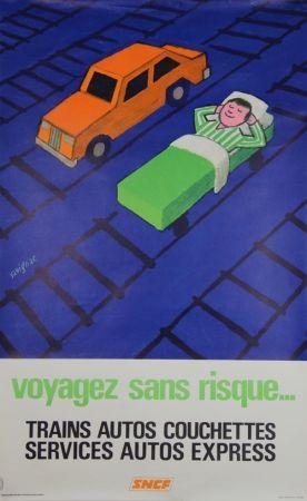 Lithograph Savignac - Voyagez sans Risques