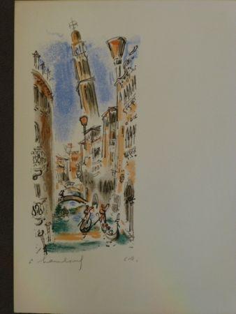 Lithograph Hambourg - Vue de Venise