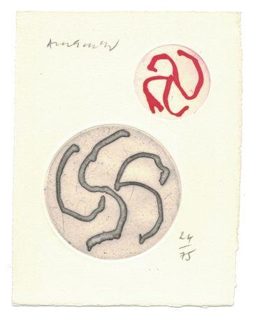 Engraving Alechinsky - '' Vue d'Intérieur ''