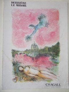 Lithograph Chagall - Vue sur notre Dame